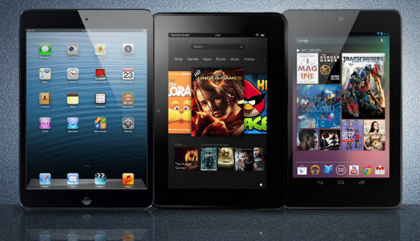 iPad-mini Kindle-Fire-HD Nexus-7