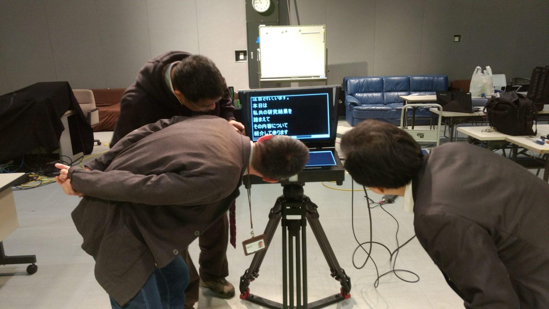 福岡ビデオ撮影 プロンプター